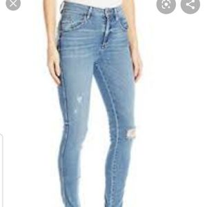 Guess Super High Rise Distressed Skinny